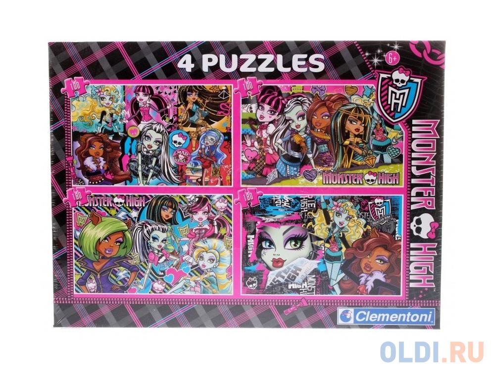 Пазл Clementoni Monster High (4 в 1) 180 элементов 08301 пазл 180 элементов monster high специальная коллекция 7310