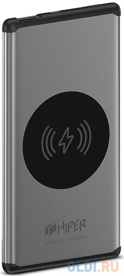 Мобильный аккумулятор Hiper Nano V Li-Pol 5000mAh 2.1A серебристый 1xUSB