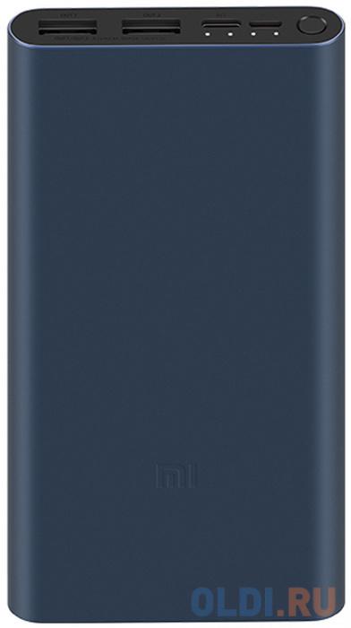 Мобильный аккумулятор Xiaomi Mi Power Bank 3 PLM13ZM Li-Pol 10000mAh 2.4A черный 2xUSB недорого