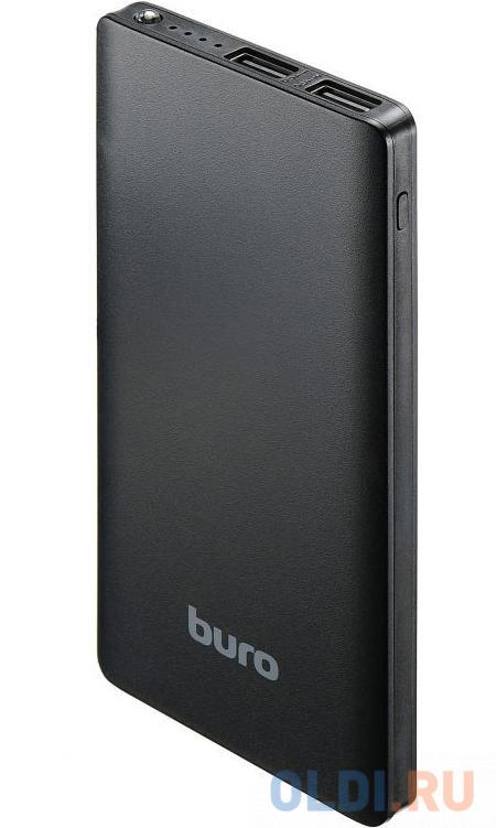Мобильный аккумулятор Buro RCL-8000-BK Li-Pol 8000mAh 2.1A черный 2xUSB