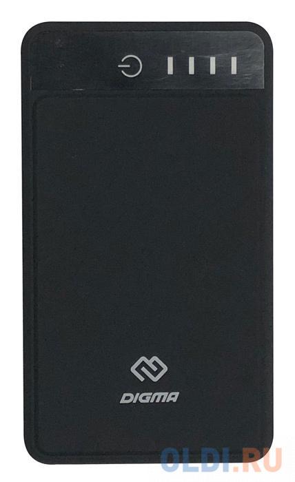 Внешний аккумулятор Power Bank 10000 мАч Digma DG-10000-3U-BK черный аккумулятор digma dg 10000 sml bl серый