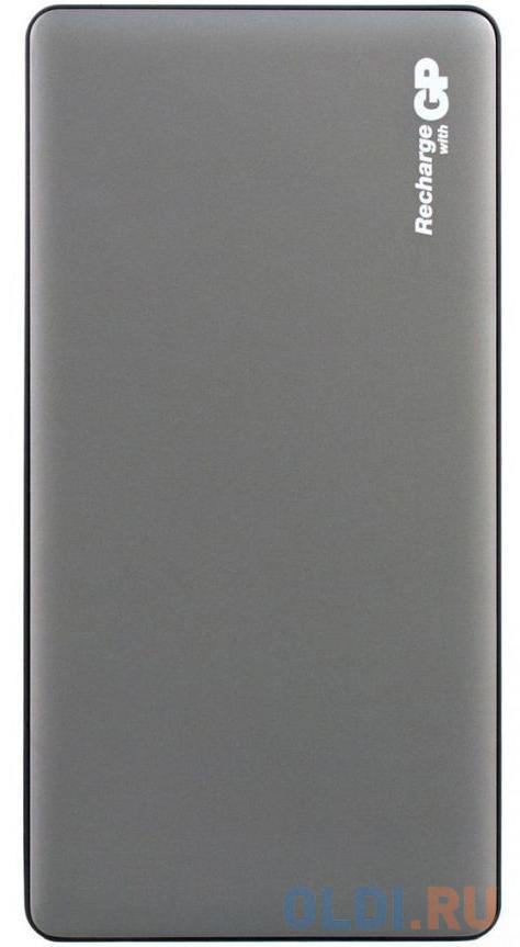 Внешний аккумулятор Power Bank 15000 мАч GP MP15 серый MP15MAGR