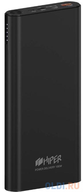 Внешний аккумулятор Power Bank 20000 мАч HIPER ForcePower 100W черный внешний аккумулятор power bank interstep is ak pst150pdc blkb201 40000мaч черный [65362]
