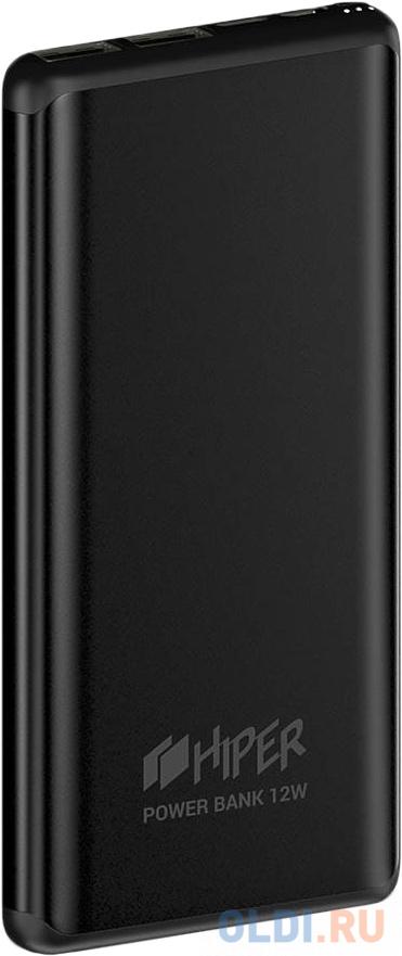 Внешний аккумулятор Power Bank 10000 мАч HIPER MS10000 черный внешний аккумулятор hiper ms10000 10000mah серый