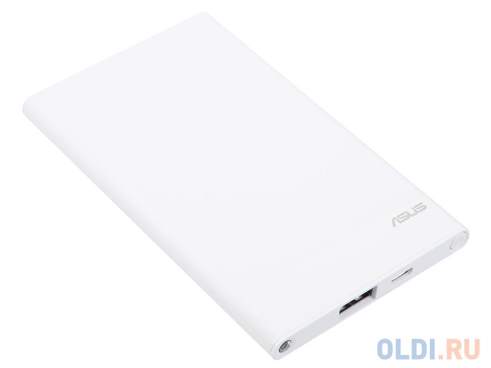 Внешний аккумулятор Power Bank 4000 мАч ASUS ZenPower ABTU015 белый 90AC02C0-BBT011 внешний аккумулятор slimbank 4000 мач