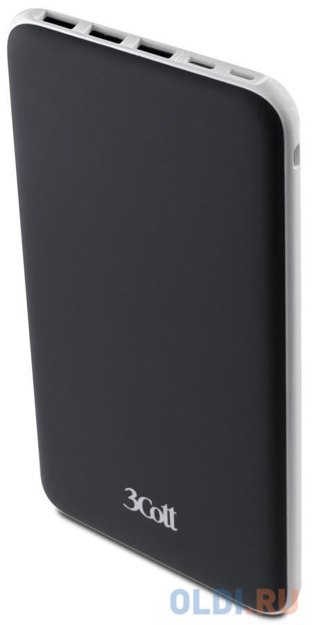 Фото - Внешний аккумулятор 3Cott 3C-PB-200TC, Type-C, 20000 мАч, вх.: micro USB 5В2А, Type-C 5В2А, Lightning 5В1.5A, вых 1 и 2: 5В2.4А, вых 3: 5В1А внешний аккумулятор 3cott 3c pb 052ss storm series емкость 5200 мач вх 5в1а вых 5в1а прорезиненное покрытие черный серый