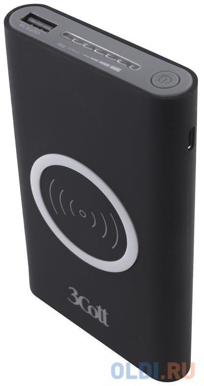 3c pb 208ss Внешний аккумулятор 3Cott 3C-PB-80A, Беспроводная, Type-C, 8000 мАч, вх.: micro USB 5В2.1А, Type-C 5В1.5А, вых USB: 5В2.1А, Qi беспроводная: 5В650mА