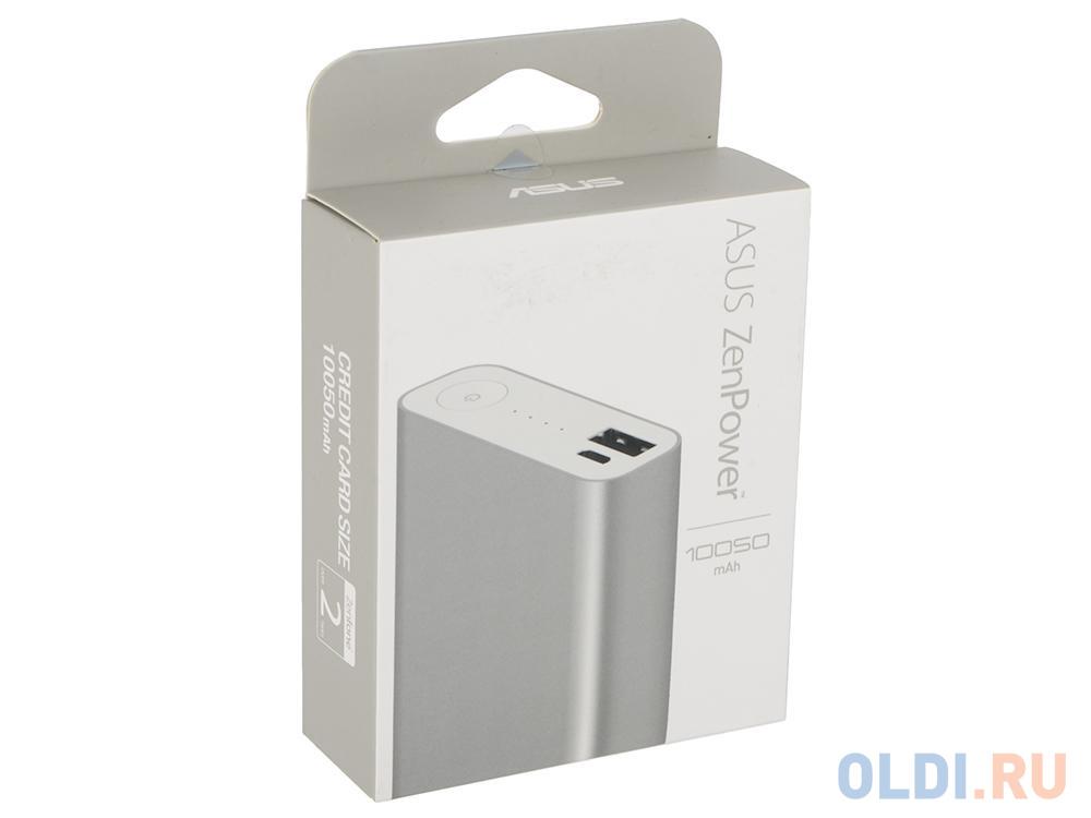 Портативное зарядное устройство Asus ZenPower ABTU005 10050мАч серебристый 90AC00P0-BBT077