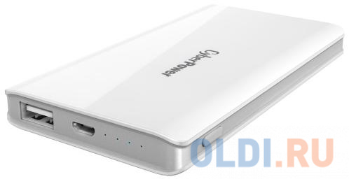 Внешний аккумулятор Cyberpower CP5000PEG Power Bank 5000мА, белый