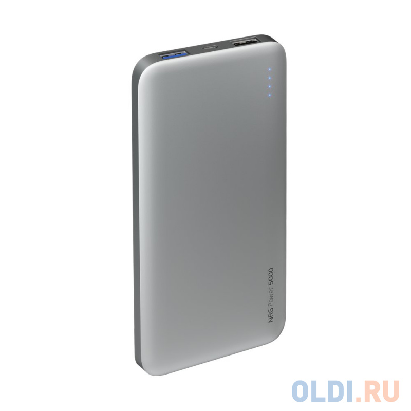 Внешний аккумулятор Deppa NRG Power 5000 mAh, 2.1A, 2xUSB, графит аккумулятор deppa nrg power compact 10000 mah серый