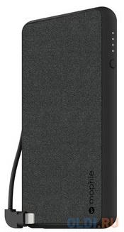 Внешний портативный аккумулятор Mophie Powerstation Plus. Емкость аккумулятора 6000 МаЧ. Цвет:черный.