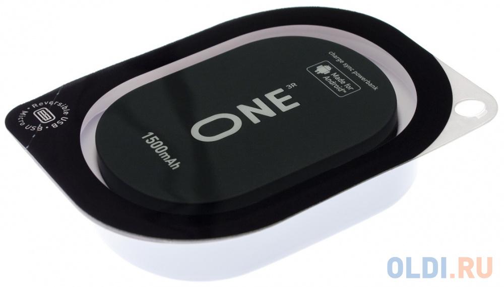 Внешний аккумулятор Power Bank 1500 мАч One ONE_PB_ANDROID черный внешний аккумулятор power bank interstep is ak pst150pdc blkb201 40000мaч черный [65362]