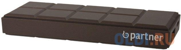 Внешний аккумулятор Power Bank 3200 мАч Partner PRT031486 коричневый.