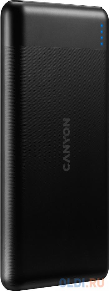 Внешний аккумулятор Power Bank 10000 мАч Canyon PB-107 черный внешний аккумулятор power bank interstep is ak pst150pdc blkb201 40000мaч черный [65362]