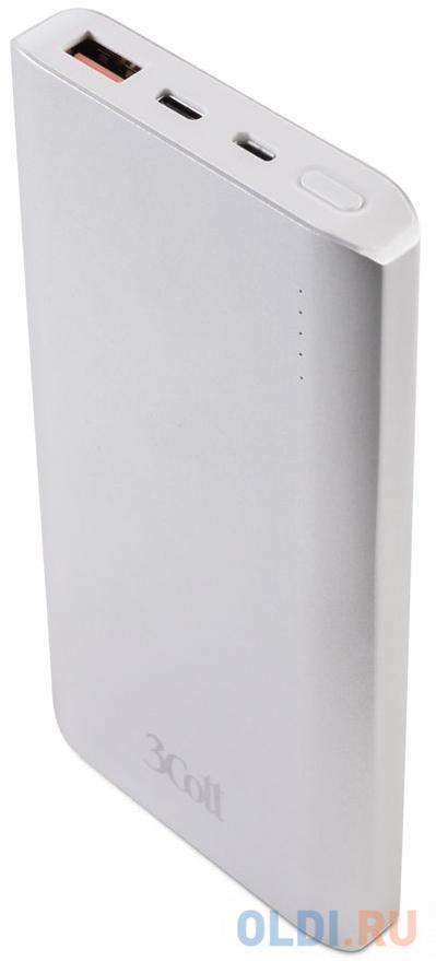 Фото - Внешний аккумулятор 3Cott 3C-PB-100QC, QC3.0, 10000 мАч, вх.: micro USB 5В2А, Type-C 5В2А, вых: USB: 5В2.1А, Type-C: 5/9/12В2А, QC3.0 5-12В2.4А внешний аккумулятор 3cott 3c pb 052ss storm series емкость 5200 мач вх 5в1а вых 5в1а прорезиненное покрытие черный серый