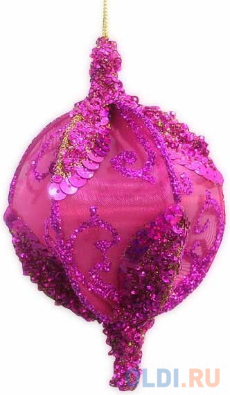 Елочные украшения Winter Wings Шар розовый с блестками 13 см 1 шт розовый полимер
