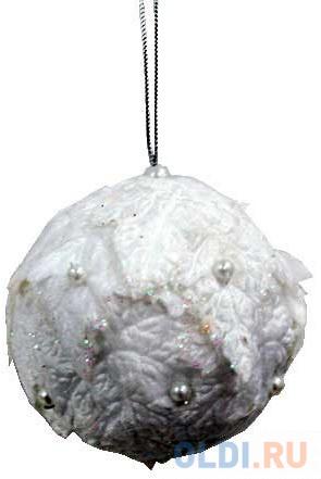 Елочные украшения Winter Wings Шар снежок 7 см 1 шт белый полимер елочные украшения winter wings шар ангел 7 см 1 шт белый стекло 079054