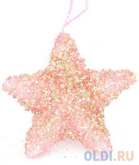 Елочные украшения Winter Wings Звезда 10 см 1 шт розовый полимер