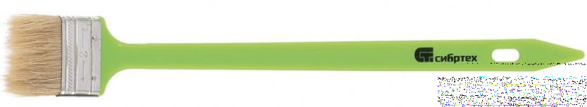 Кисть радиаторная 50 мм, натуральная щетина, пластиковая ручка// Сибртех недорого