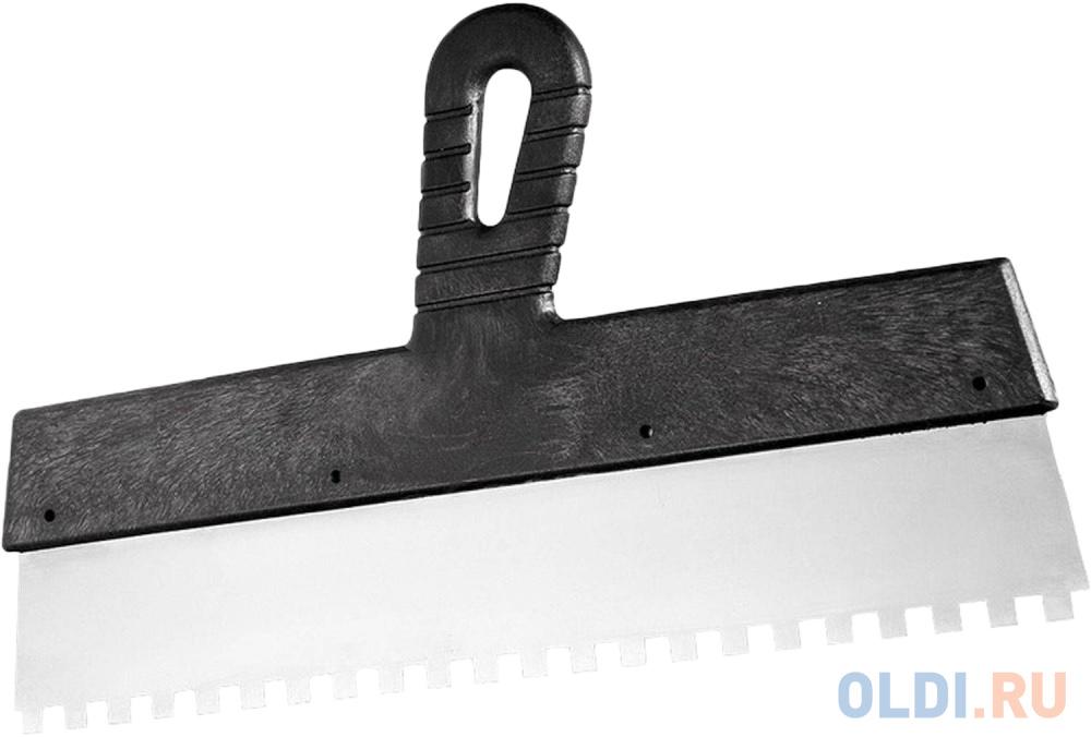 Фото - Шпатель из нержавеющей стали, 200 мм, зуб 6х6 мм, пластмассовая ручка// Сибртех шпатель из нержавеющей стали 450 мм зуб 6х6 мм пластмассовая ручка сибртех
