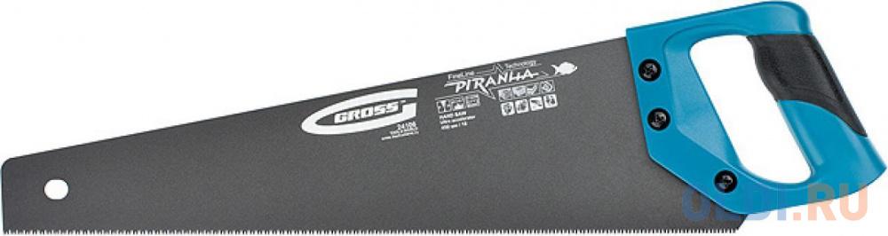 Ножовка GROSS 24107 PIRANHA  500мм  11-12 зубьев на дюйм по дереву трехгранная заточка зубьев.