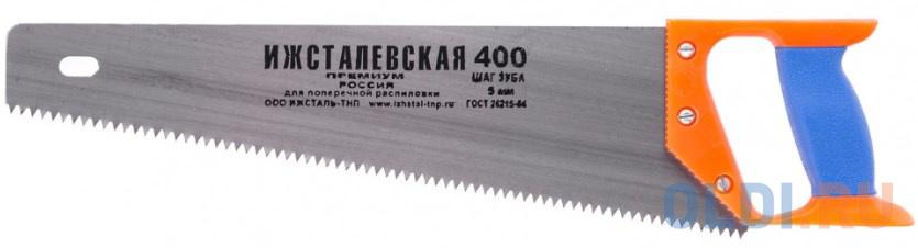 Ножовка по дереву, 400 мм, шаг зубьев 5 мм, пластиковая рукоятка (Ижевск) </div> <div class=