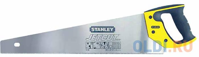 Stanley ножовка по дереву jet-cut с мелким закаленным зубом 11 х 500mm (2-15-599), шт ножовка по дереву stht20349 1 stanley