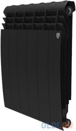 РадиаторRoyalThermoBiliner Alum500 Noir Sable-6секц. радиатор алюминиевый royal thermo biliner alum 500 10 секций