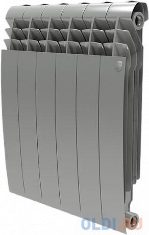 РадиаторRoyalThermoBiliner Alum500 Silver Satin-4секц. радиатор алюминиевый royal thermo biliner alum 500 10 секций