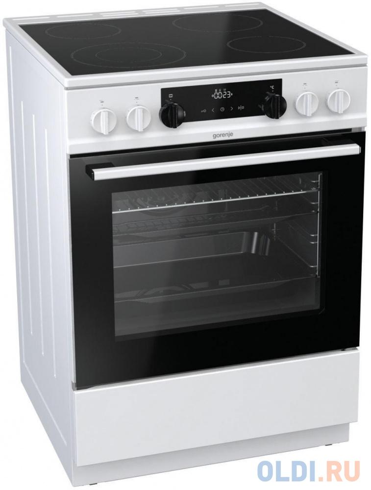 Электрическая плита Gorenje EC6341WC белый кофеварка gorenje tcm330w электрическая турка белый