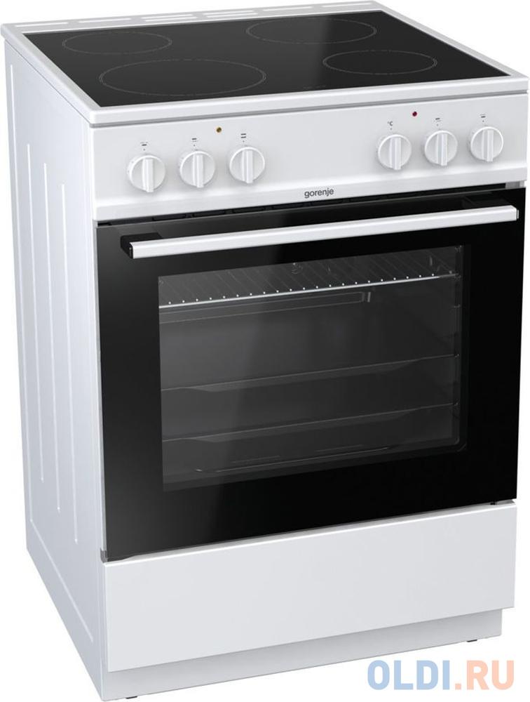 Электрическая плита Gorenje EC6121WD белый кофеварка gorenje tcm330w электрическая турка белый