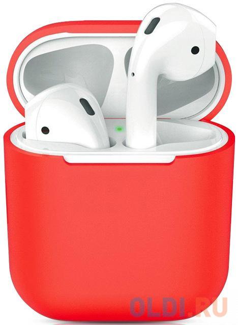 Чехол силиконовый для Apple Airpods 1/2 DF iAir-01 (red)