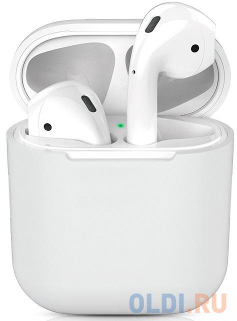 Чехол силиконовый для Apple Airpods 1/2 DF iAir-01 (white)
