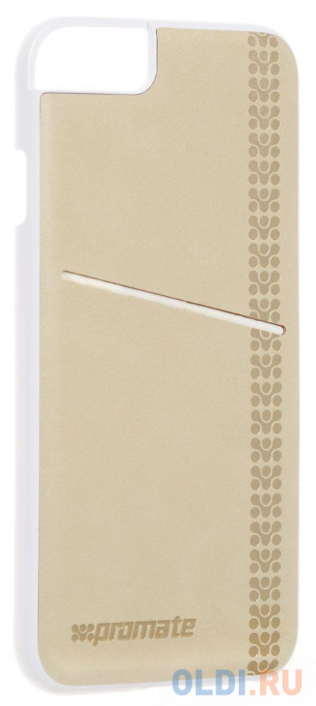 Накладка для iPhone 6 Plus Promate Slit-i6P кремовый 3d embroidered applique slit side coat