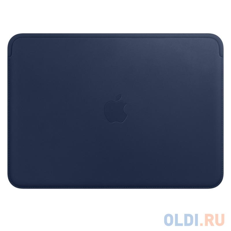 """Чехол для ноутбука 12"""" Apple Leather Sleeve кожа синий MQG02ZM/A"""