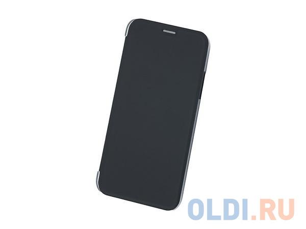 Чехол Book Case для IPhone X/ Xs, экозамша, черный, BoraSCO