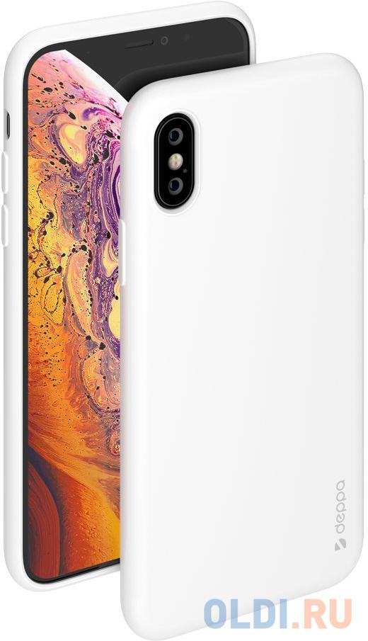 Накладка Deppa Gel Color Case для iPhone X iPhone XS белый 85360 чехол накладка deppa gel plus case матовый для apple iphone x xs розовое золото