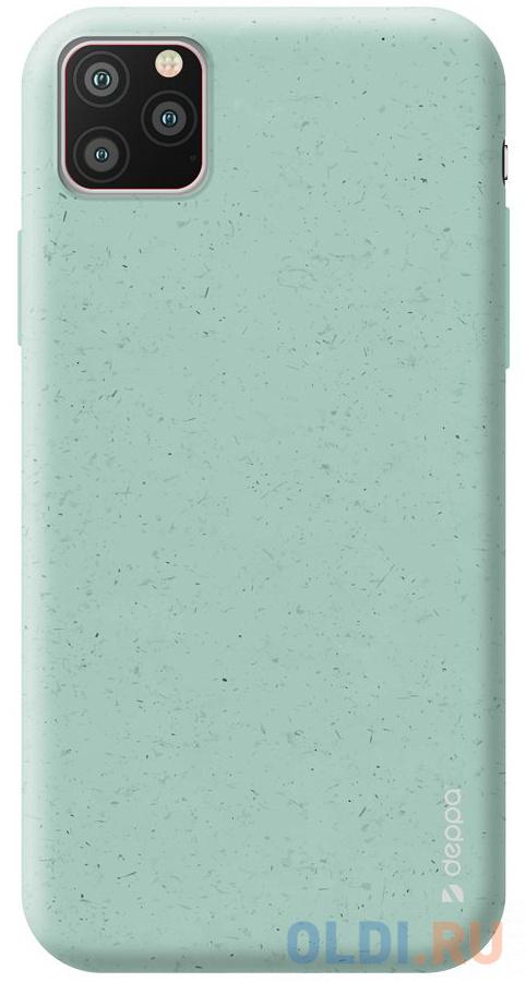 Фото - Чехол Deppa Eco Case для Apple iPhone 11 Pro, зеленый чехол клип кейс deppa eco case для apple iphone 11 голубой [87282]
