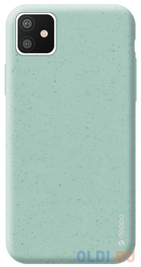 Фото - Чехол Deppa Eco Case для Apple iPhone 11, зеленый чехол клип кейс deppa eco case для apple iphone 11 голубой [87282]