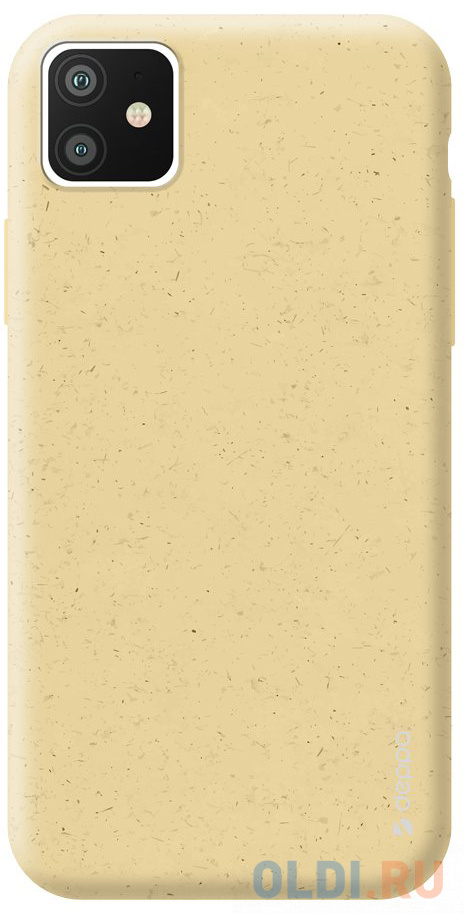Фото - Чехол Deppa Eco Case для Apple iPhone 11, желтый чехол клип кейс deppa eco case для apple iphone 11 голубой [87282]