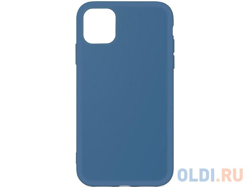 Силиконовый чехол с микрофиброй для iPhone 11 Pro DF iOriginal-02 (blue) чехол df для iphone 12 12 pro с микрофиброй silicone red ioriginal 05