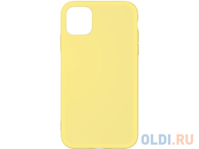 Силиконовый чехол с микрофиброй для iPhone 11 Pro Max DF iOriginal-03 (yellow) чехол df для iphone 12 12 pro с микрофиброй silicone red ioriginal 05
