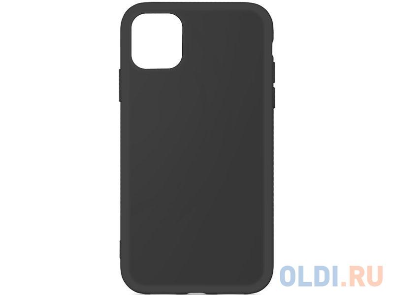 Силиконовый чехол с микрофиброй для iPhone 11 Pro Max DF iOriginal-03 (black) чехол df для iphone 12 12 pro с микрофиброй silicone red ioriginal 05