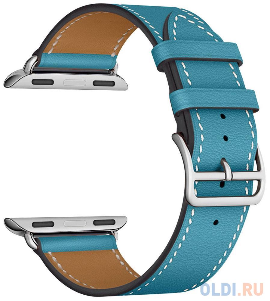 Ремешок Lyambda Mintaka для Apple Watch голубой LWA-02-40-LBL аксессуар ремешок gurdini milanese loop для apple watch 42mm rose gold 904820