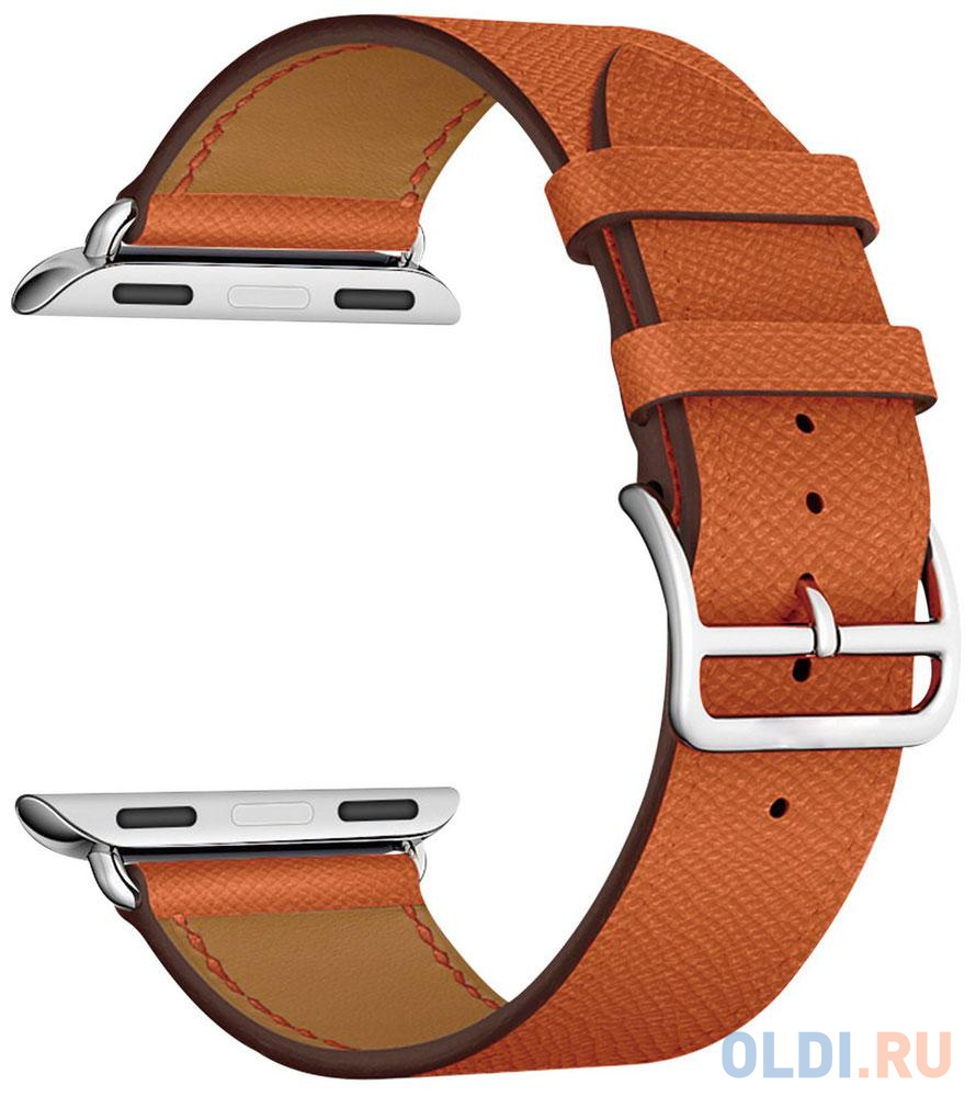 Ремешок Lyambda Mintaka для Apple Watch оранжевый LWA-02-40-OR аксессуар ремешок gurdini milanese loop для apple watch 42mm rose gold 904820
