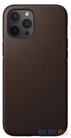 Накладка Nomad Rugged Case для iPhone 12 Pro Max светло-коричневый NM21HR0R00
