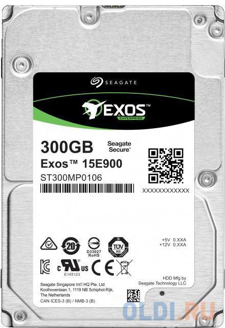 Фото - Накопитель на жестком магнитном диске Seagate Жесткий диск Exos 15E900 HDD 300GB Seagate 4Kn/512N ST300MP0106 2.5 SAS 12Gb/s 256Mb 15000rpm жесткий диск 2tb sas 12gb s seagate st2000nm003a exos 7e8 512n 3 5 7200rpm