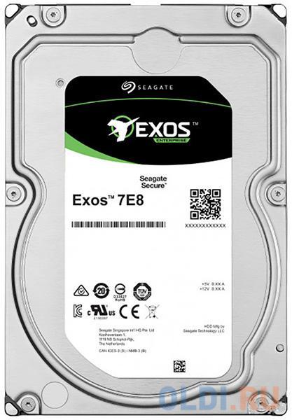 Фото - Накопитель на жестком магнитном диске Seagate Жесткий диск Exos 7E8 HDD 6TB ST6000NM029A 3.5 512E/4KN SAS 12Gb/s 256Mb 7200rpm жесткий диск 2tb sas 12gb s seagate st2000nm003a exos 7e8 512n 3 5 7200rpm