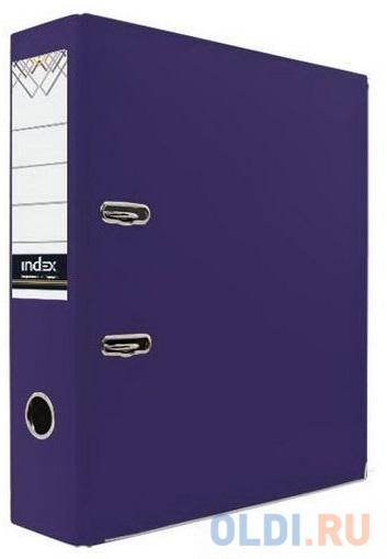 Папка-регистратор 80 мм, PVC, фиолетовая, с металлической окантовкой папка регистратор 80 мм pvc зеленая с металлической окантовкой