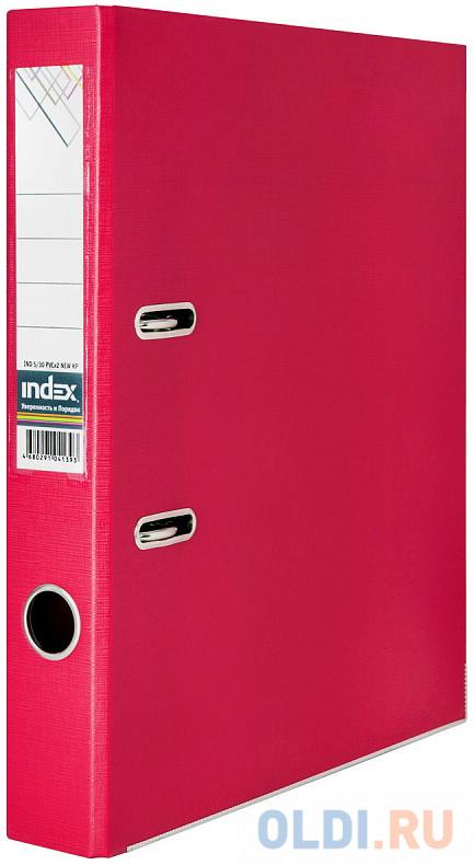 Папка-регистратор 50 мм, PVC двухсторонняя, красная, с металлической окантовкой папка регистратор 80 мм pvc зеленая с металлической окантовкой